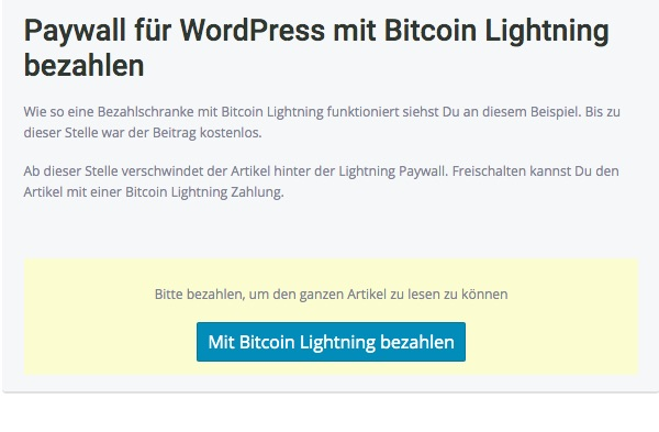 Lightning Paywall