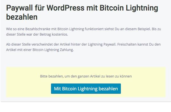 Lightning Paywall
